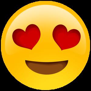 emoji occhi a cuore